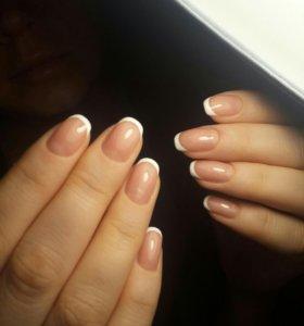 Наращивание ногтей/гель лак/маникюр