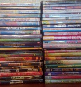 Диски кино, музыка, мульты, игры