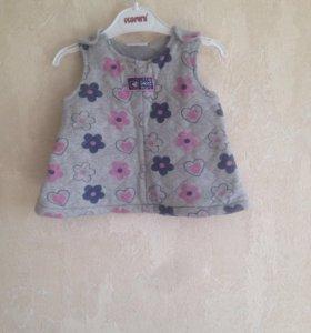 Теплое Платье для малышки.