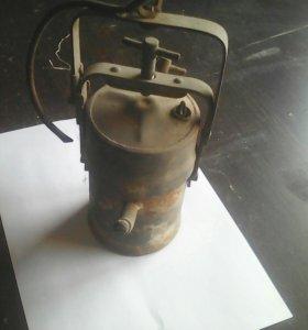 Карбидный шахтёрский фонарь