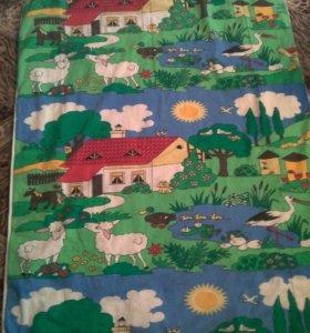 комплект одеяло детское и подушка