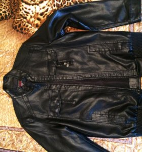 Новая мужская кожанная куртка