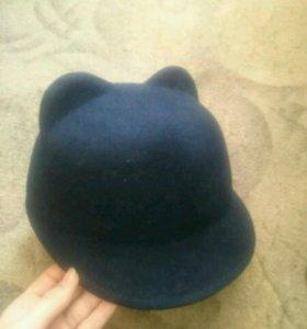 Фетровая шляпа с ушками