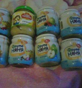 Пюре сладкое фруто няня для малышей