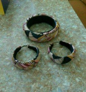 Бижутерия (серьги и браслет)