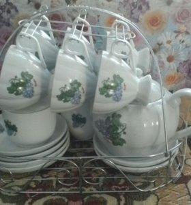 Чайный сервис новый на шесть персон