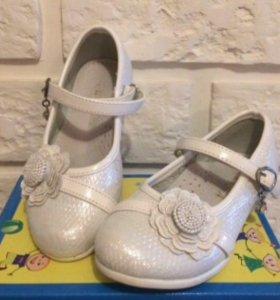 Нарядные белые туфли, 26 размер