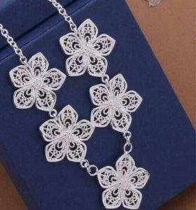 Ожерелье новое,серебро 925пробы.