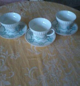 Чайная пара из костяного фарфора ЛФЗ