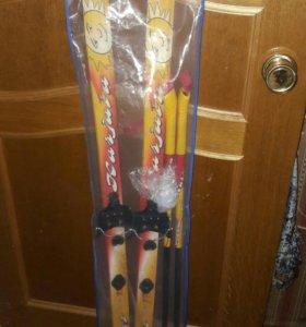 Лыжи детские 120см