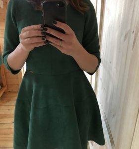 Платье замшевое плотное