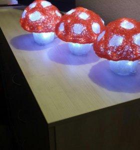 Светильник - ночник гриб светодиодный