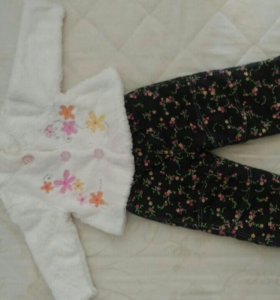 Весенние штанишки и шубка для девочки