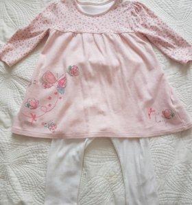 Костюм (платье и лосины) Mothercare
