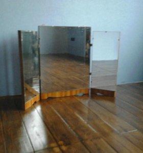 Зеркало трельяж настенный