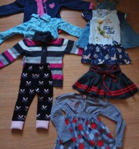 Пакет одежды на девочку 92-104