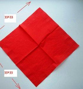 Салфетки 33х33, 2-х слойные, 120шт. в упаковке