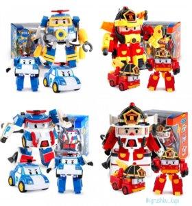 Машинки-трансформеры Robocar Poli+костюм