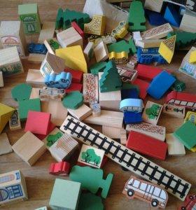 Игрушки детские деревянные (город)