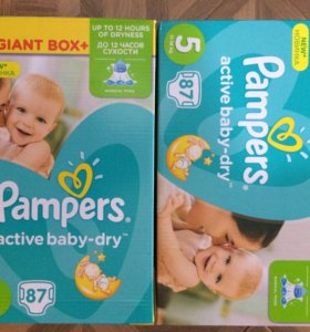 Подгузники pampers active baby dry 5 87шт