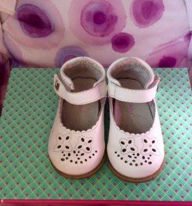 Туфли натуральная кожа р20