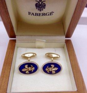 Золотые запонки Faberge с бриллиантами