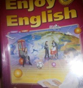 Учебник и тетрадь Enjoy English за 7 класс 2011 г.