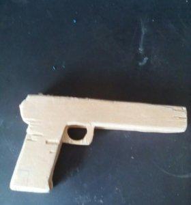 Пистолет из фанеры 7мм