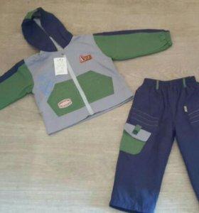 Ветровочный костюм (куртка + штаны ), р.98- 104.