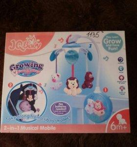 Детская игрушка, мобиль,пластмассовый.