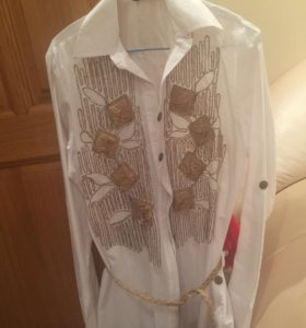 Хлопковая фирменная рубашка - блузка , новая !!!!