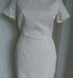 Платье белое (44, новое)