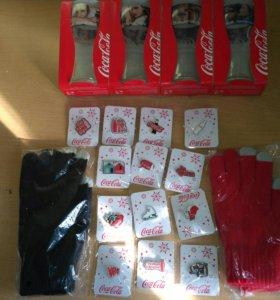 Перчатки для сенсора Кока Кола