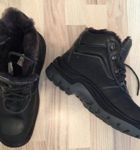 Зимние ботинки натуральная кожа+мех