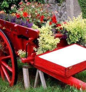 Телега декоративная под цветы для фото 2,4х1,1х1,1