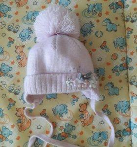 зимняя шапка на изософте