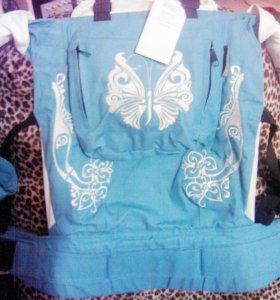 слинго-рюкзак для переноски маленьких детей новый