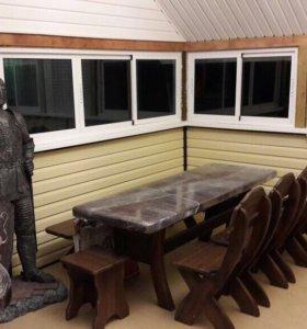 Мебель для дачи из сосны,дуба,ясеня,бука на заказ