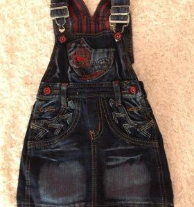 Сарафан джинсовый для девочки (3 года)