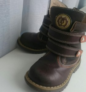 Демисезонные детские кожаные ботинки