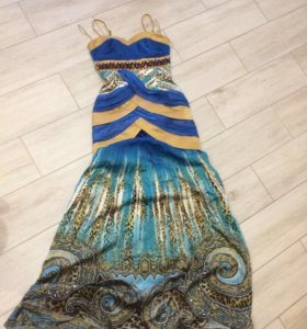 Платье русалки из натурального шёлка.