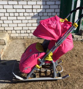 Санки- коляска  Ника детям 7