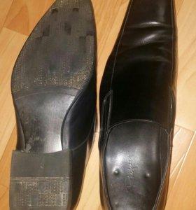 Кожанные мужские ботинки