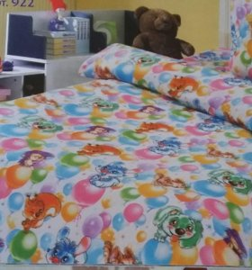 Поплин в детскую кроватку.