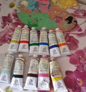 Краски масляные для рисования Master oil