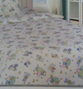 Поплин в детскую кроватку
