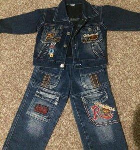 Костюм джинс.на мальчика 2-3года