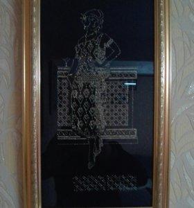 Картина вышита крестом