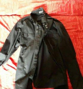 Модная черная класическая рубашка