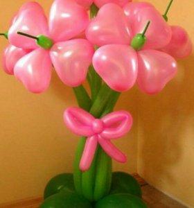 Цветы из шариков(клевер)